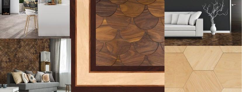 . Parquet Flooring  Border Inlays  Floor Medallions and Wood Wall